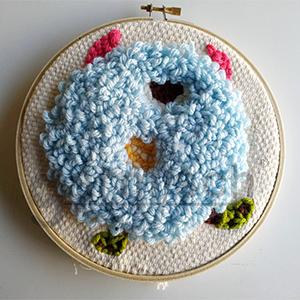 Sew Mate 毛線俄羅斯刺繡,可完成厚重有飽滿的圖案,立體感強,適合居家飾品裝飾.