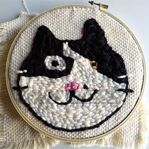 毛線俄羅斯刺繡, 是小朋友入門最佳刺繡手藝工具.