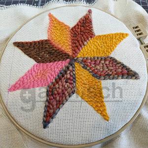 Sew Mate 毛線俄羅斯刺繡 PN-003 作品以平面刺繡所呈現的效果.