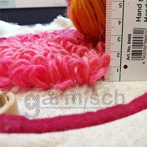 Sew Mate 毛線俄羅斯刺繡, 迴圈高度15mm~20mm,可為作品帶來超乎想像的特殊效果.