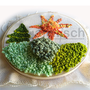 Sew Mate 毛線俄羅斯刺繡 PN-003 作品以立體面所呈現的效果.