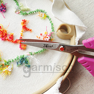 X'SOR 典雅繡花剪 EL-0140CB 是提升刺繡等細緻手工藝的最佳刺繡剪刀選擇.